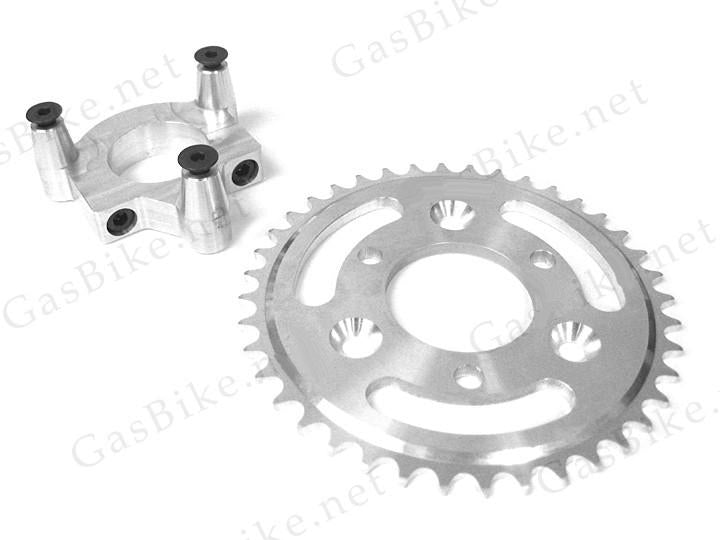 Motorized Bicycle CNC Rear Hub Adapter and Sprocket