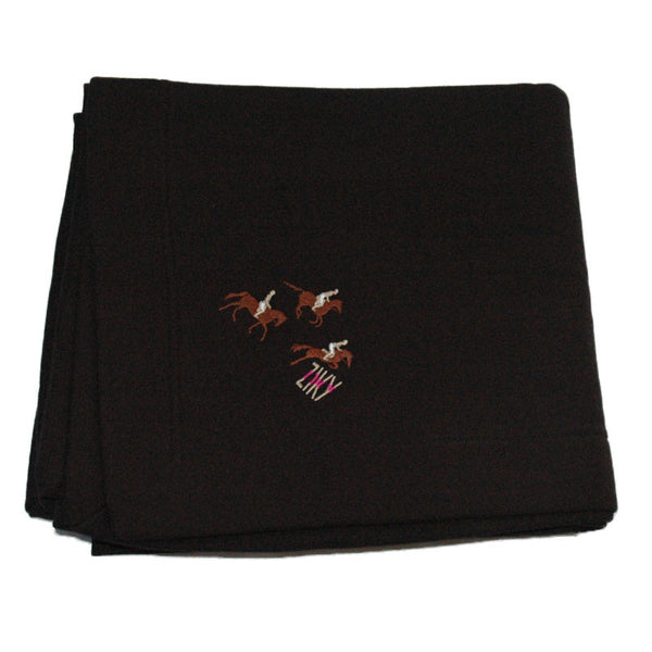 Horse embroidered stadium blanket