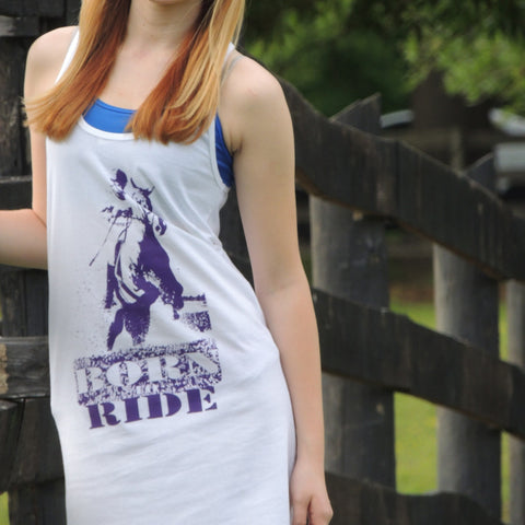 Racerback tank dress with horse print