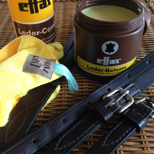 Effax leather balm and ZIKY tack cleaning cloth