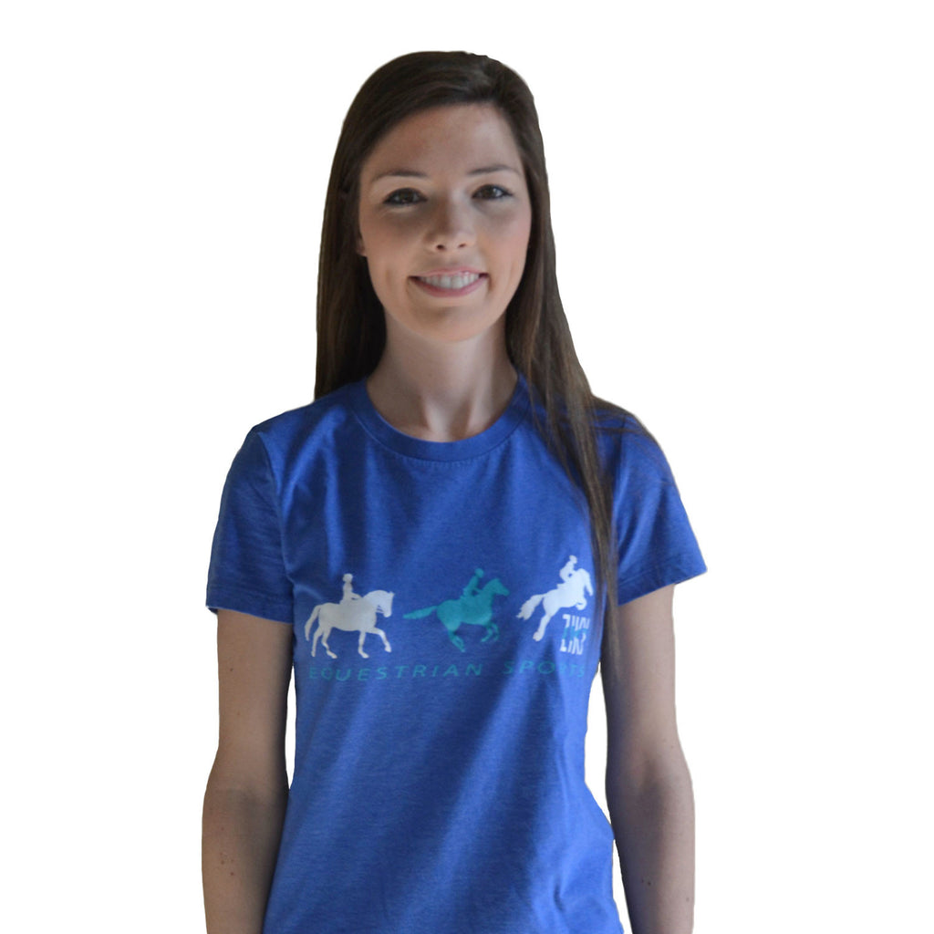 Equestrian sports t-shirt blue