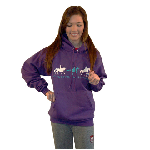 Purple equestrian sports hoody