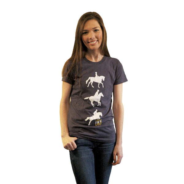 Blue horse shirt by ZIKY