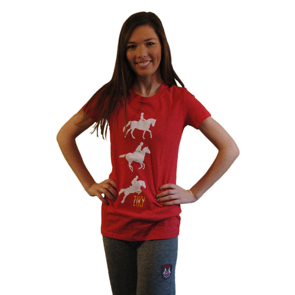 ZIKY red eventing tee