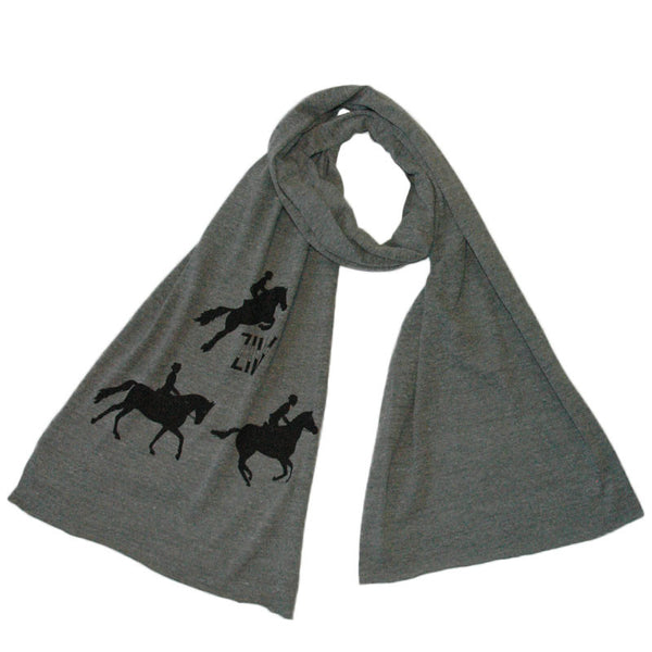 Super soft neck scarf with horse graphic