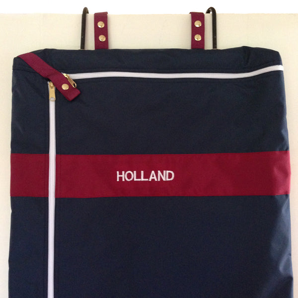 Embroidered garment, bag bridle bag