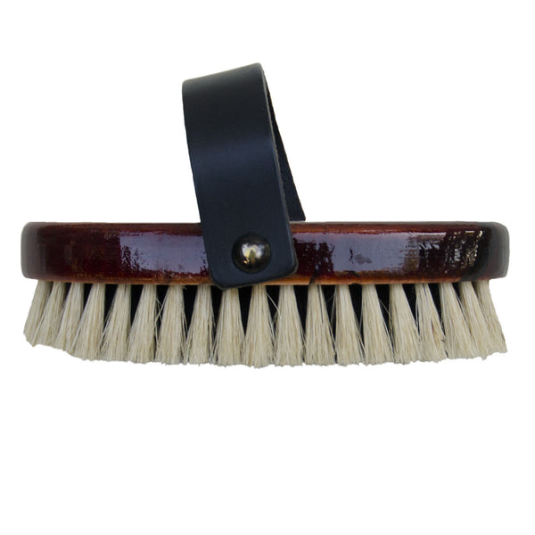 All natural wooden horse brush