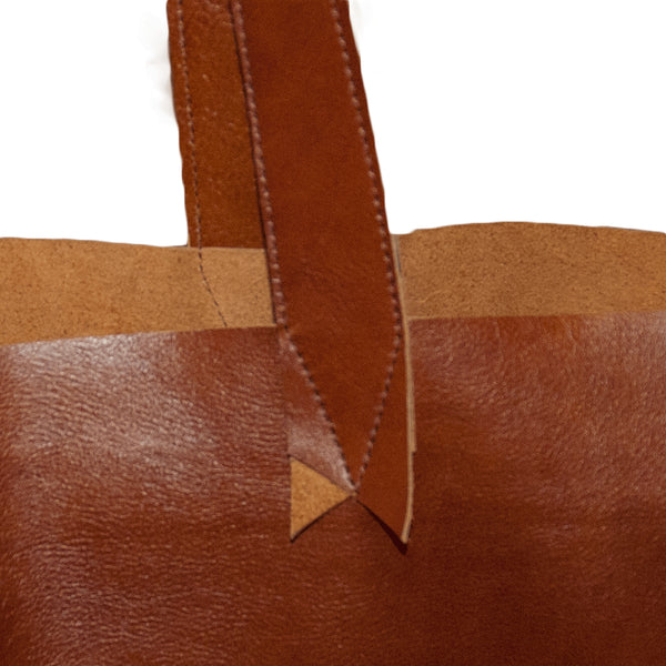 Simple leather bag made in USA