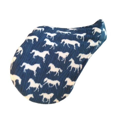 Horse print saddle cover