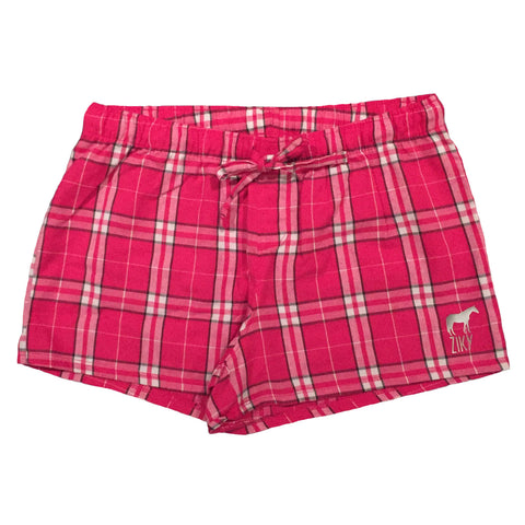 Pajama horse flannel shorts