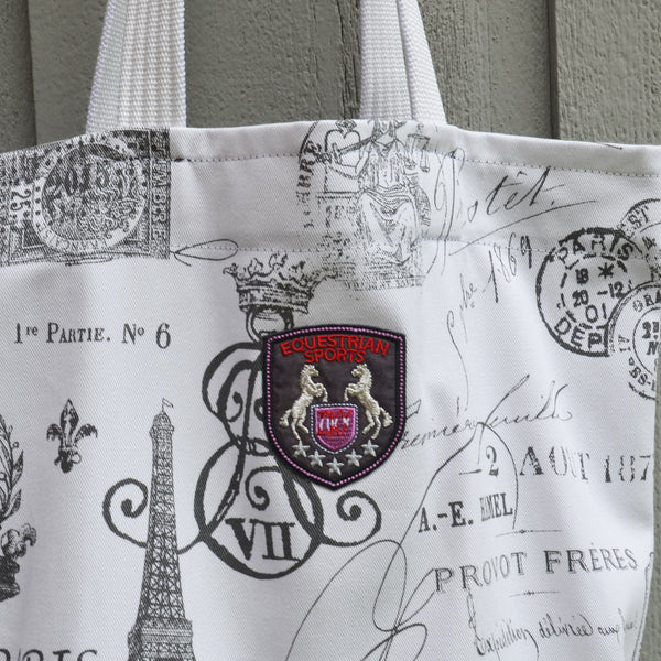 Paris fabric shopping bag