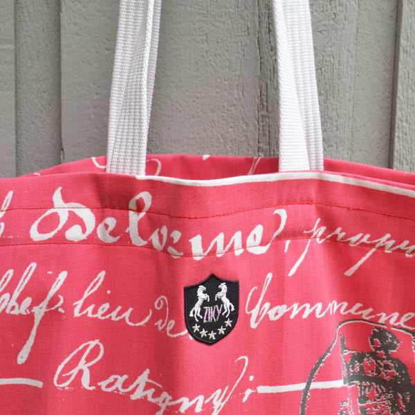 Horse crest shopping tote