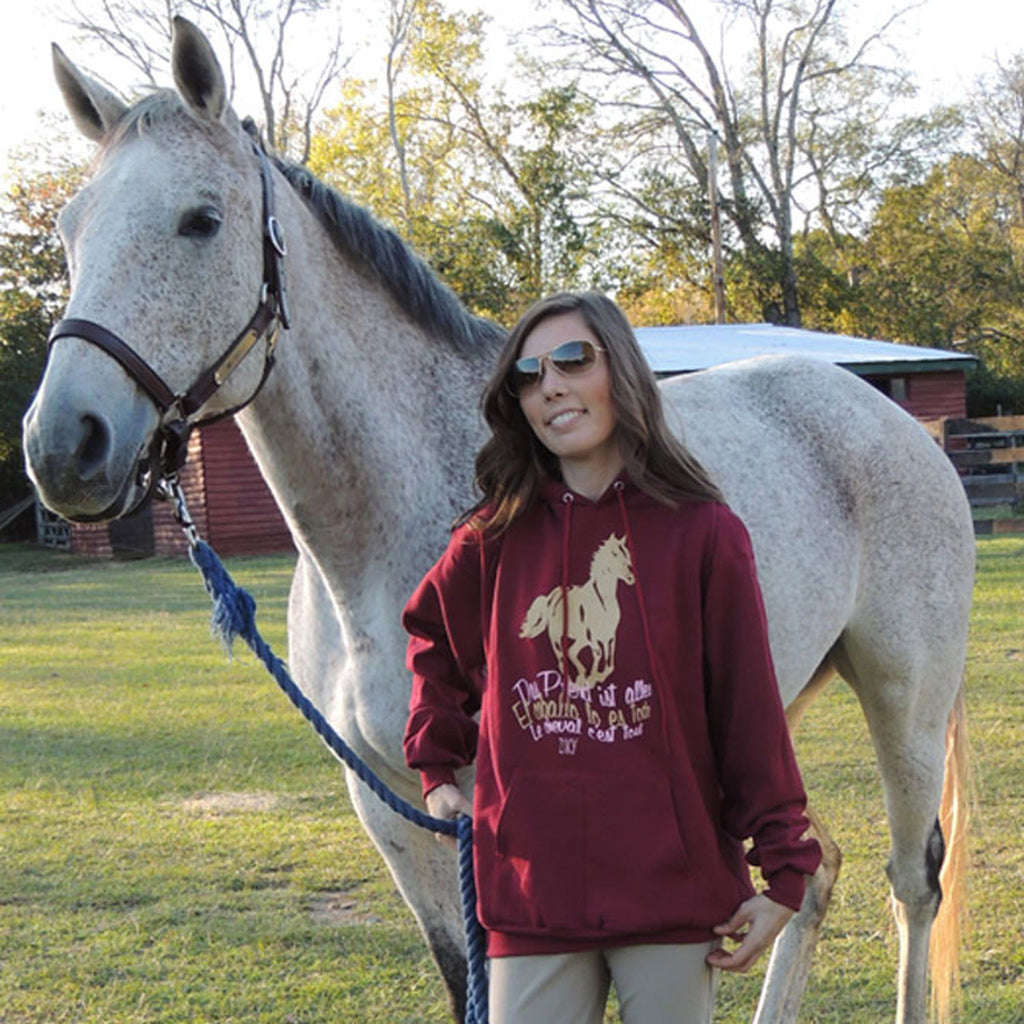 Le Cheval horse hoodie