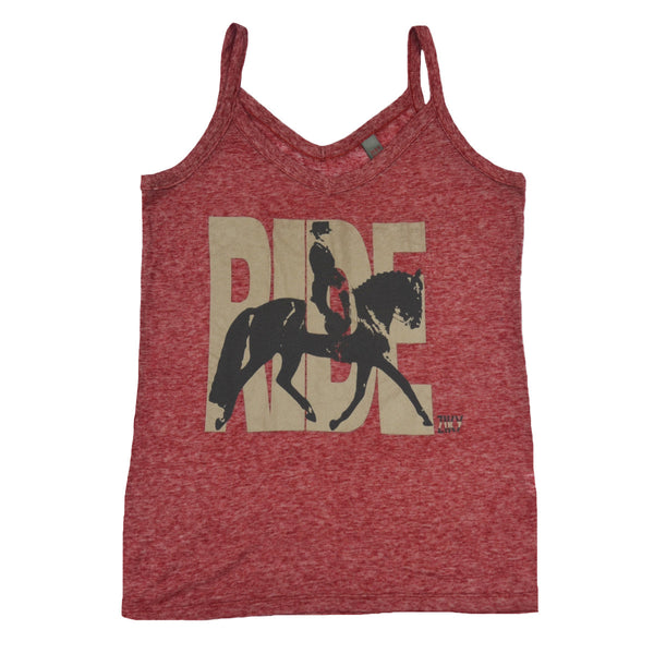 "Red dressage ""Ride"" tank top"