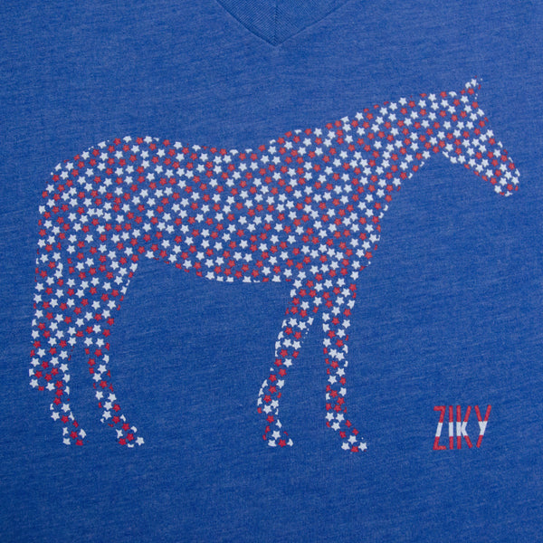 Equestrian t-shirt with horse graphic