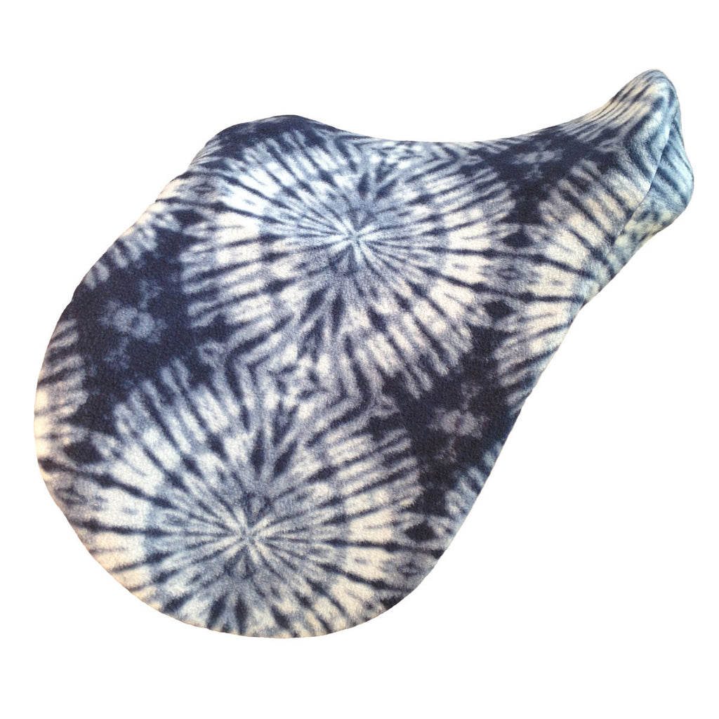 Tie dye fleece saddle cover
