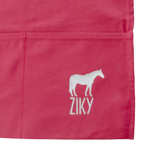 red grooming apron