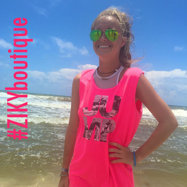 Pink JUMP tank top by ZIKY