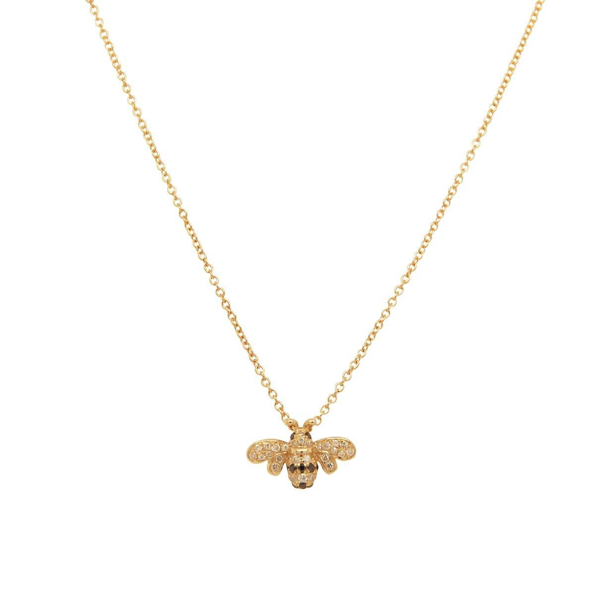 Bee Mine Necklace 1.7GM | .10CT
