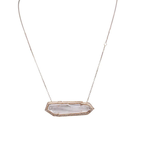 ICE Necklace- Small 3.5GM/ 7.65CT Quartz/.35CT