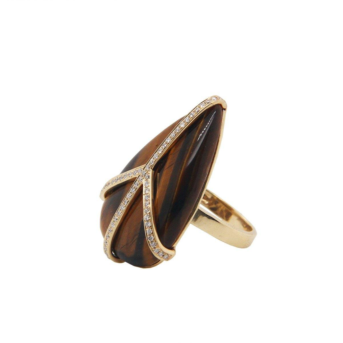 Tiger's Eye Peace Ring 4.4GM | .25CT