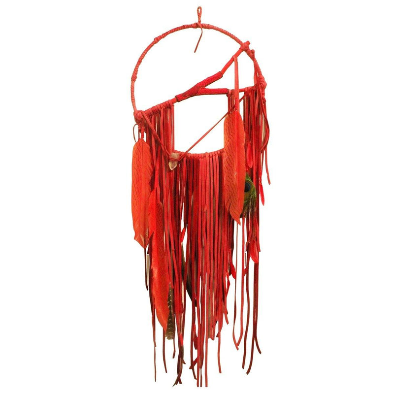 Handmade Red Dreamcatcher