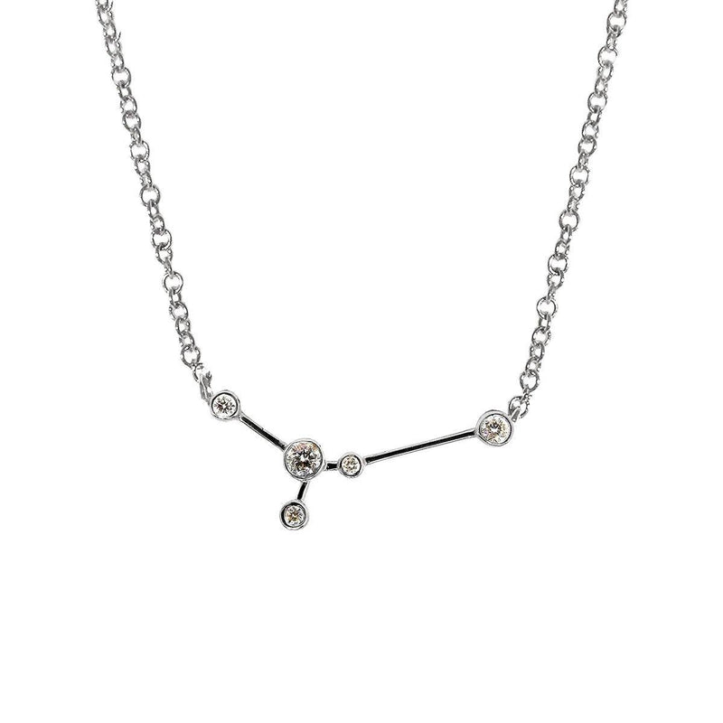 Cancer Zodiac Necklace | 1.60GMS .20CT