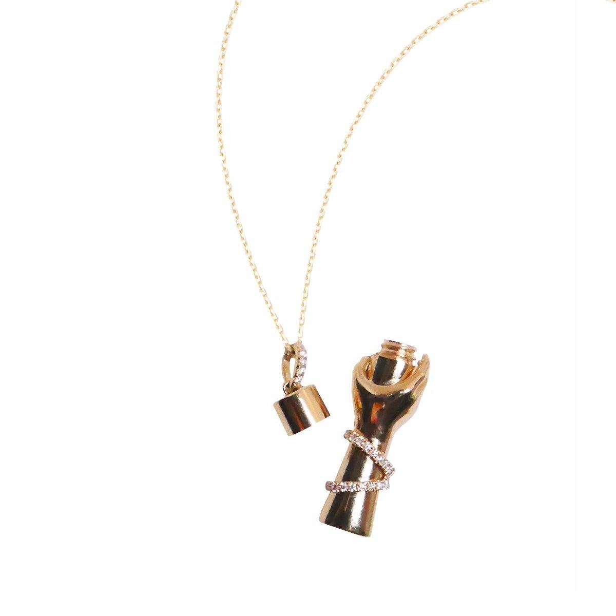 Care Bottle Necklace 8GM | .28CT