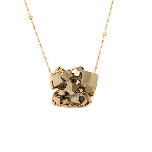 Medium Pyrite Necklace 2.4GM | .03CT