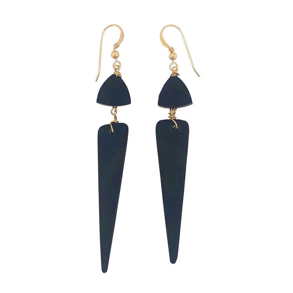Jade Dagger Earrings