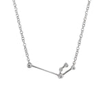Aquarius Zodiac Necklace | 1.70GMS .10CT