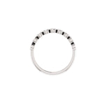 Above View of 14K White Gold Bezel Set Round Diamond Band