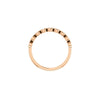Above View of 14K Rose Gold Bezel Set Round Diamond Band
