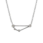 Capricorn Zodiac Necklace | 1.60GMS .10CT