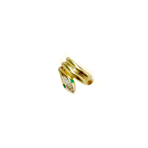 Mini Crescent Stud .375GMS .02CT | Single Piece