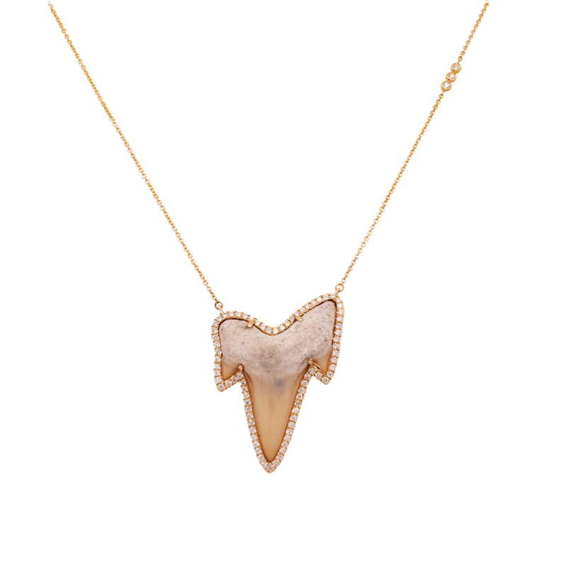 Shark Bite Necklace - Small | 1GM .35CT