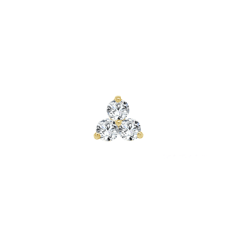 Diamond Trio Stud | .70GMS .36CT | Single