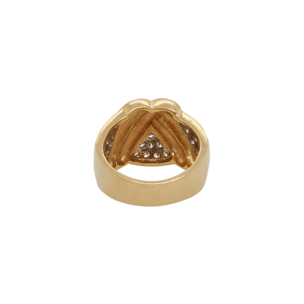 14K Classic Diamond Wave Ring | 11GMS .75CT