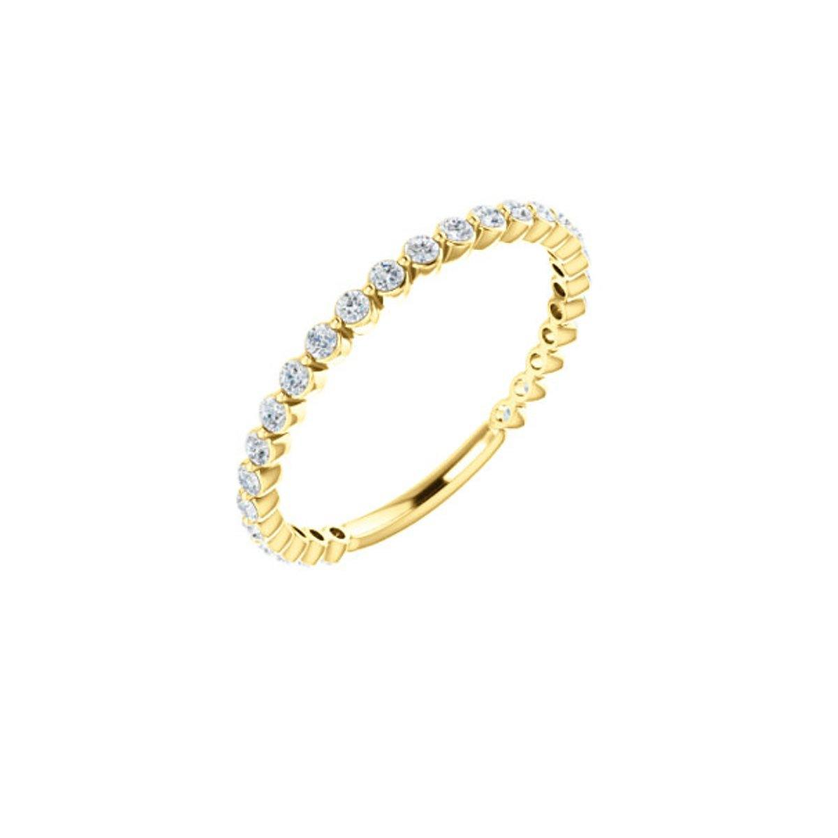 Round Diamond Stack Ring 1.78GMS | .33CTS