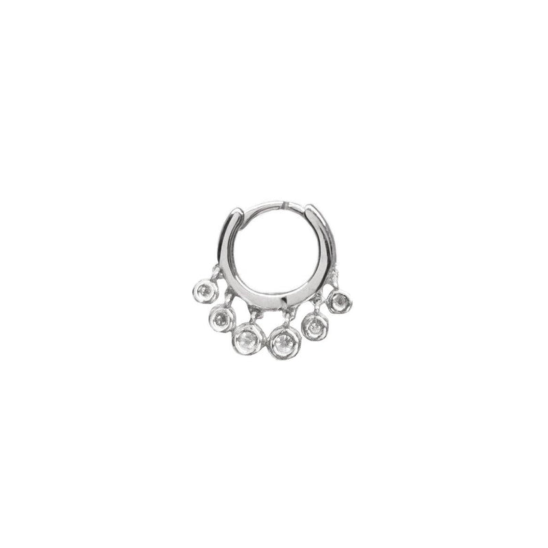 Diamond Dropper Hoop | .85GMS .10CT | Single