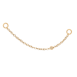 Earring Charm Chain | .20GMS .02CT | Single