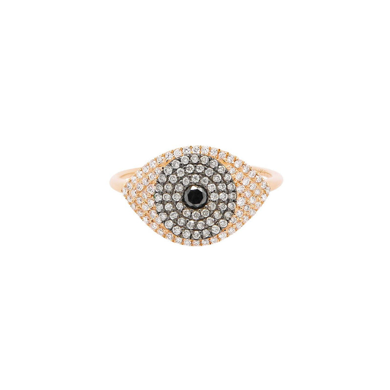 Evil Eye Protector Ring | 2.63GMS .41CT | Brown