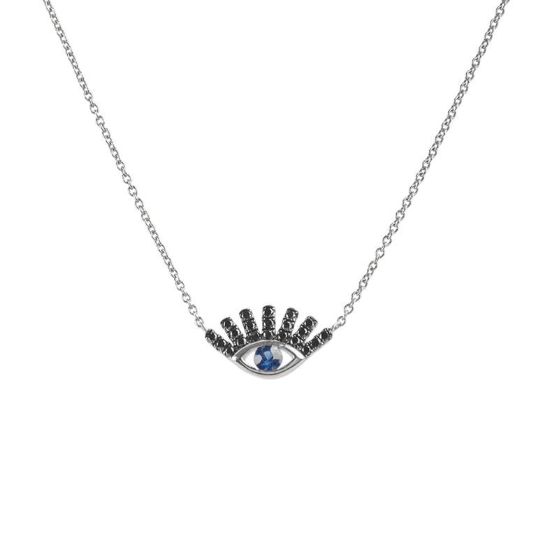Evil Eye Lash Necklace | 1.70GMS .20CT