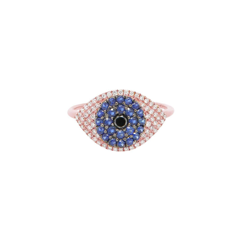 Evil Eye Protector Ring | 2.63GMS .41CT | Sapphire