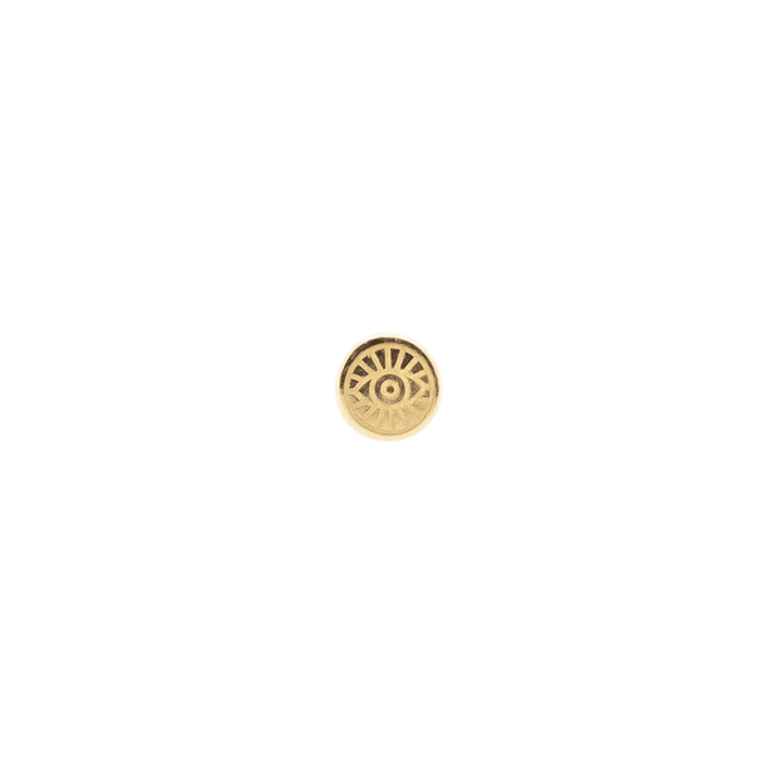Mini Crescent Threader Stud | .50GMS .02CT | Single
