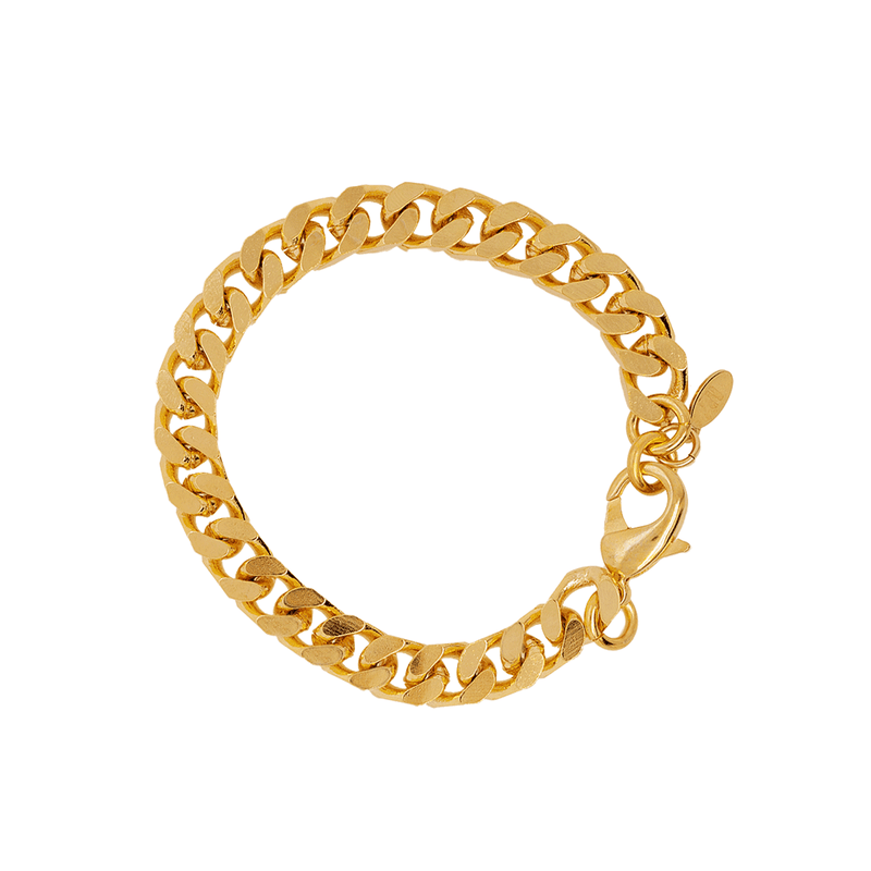 Gold Curb Chain Bracelet by Porter Lyons