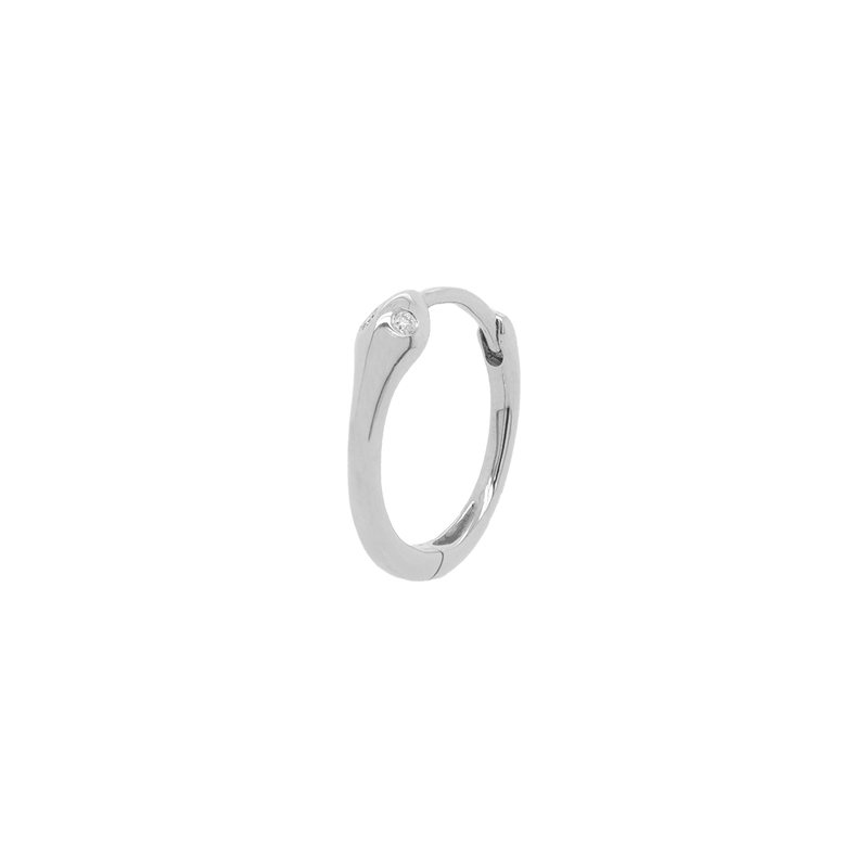 Snake Hoop - Diamond Eyes | 1.6GMS .02CT | Single