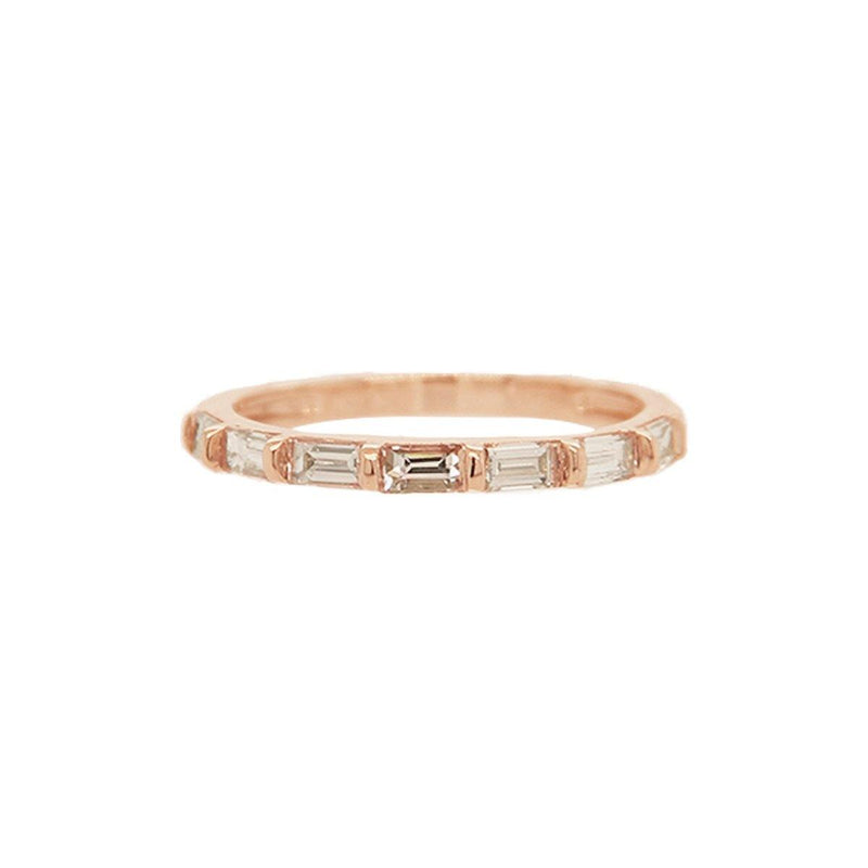 Baguette Half Way Ring | 1.50GMS .55CT