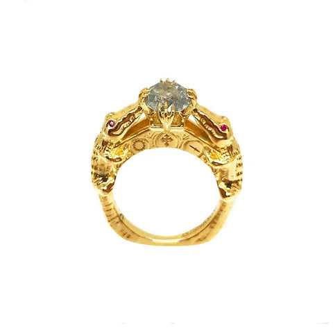 Snake Rada Ring- Ruby Eyes 1.3GMS | .15CTS