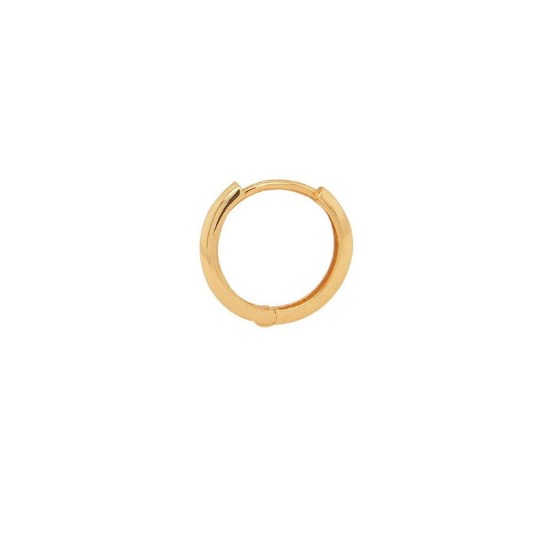Large Gold Lock Hoop | 1.18GMS | Single